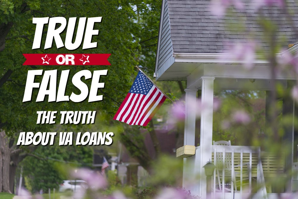 True or False Quiz. Front porch with flag